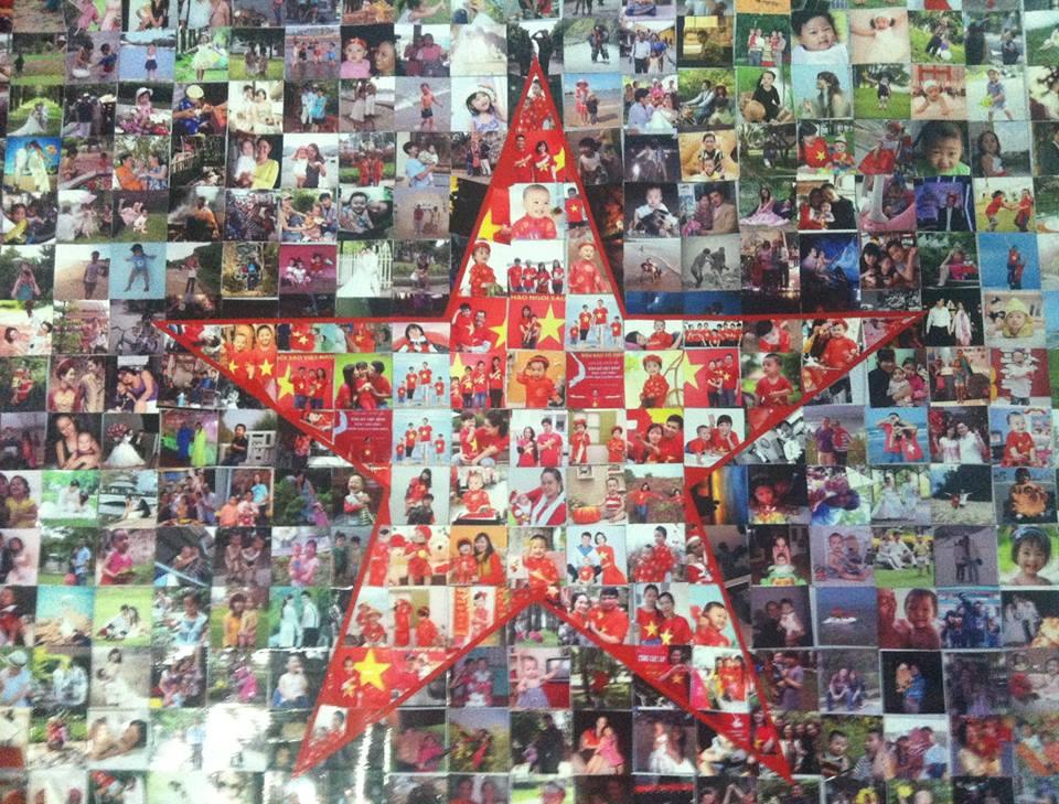 Những khoảnh khắc ghép ảnh gia đình trong bản đồ kỷ lục Việt Nam