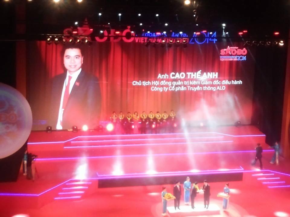 CTHĐQT ALO Media lọt top 100 doanh nhân trẻ Việt Nam tiêu biểu 2014